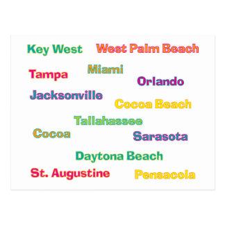 Postal de las ciudades de la Florida