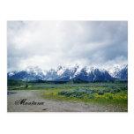 postal de las colinas de Montana de los años 50