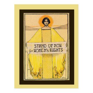 Postal de las derechas de las mujeres del arte del
