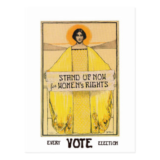 Postal de las derechas de las mujeres del voto del