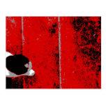 Postal de las escaleras negro rojo y blanco del ga
