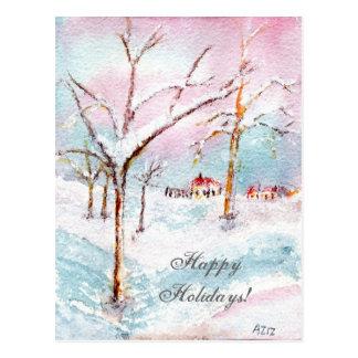 Postal de las Felices Navidad de la Feliz Año Nuev