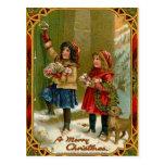 Postal de las Felices Navidad del vintage