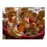 postal de las galletas del hombre de pan de jengib