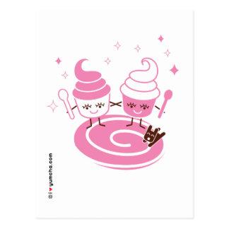 Postal de las hermanas del yogurt congelado