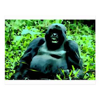 Postal de las ilustraciones del gorila