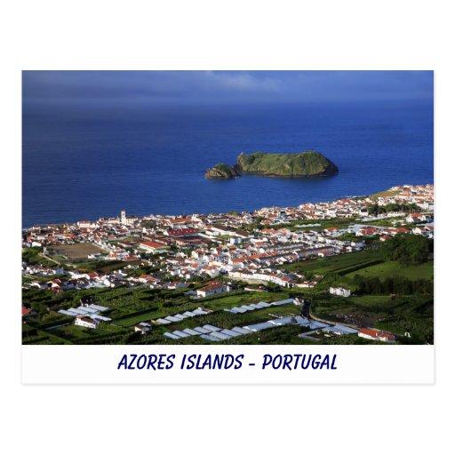 Postal de las islas de Azores