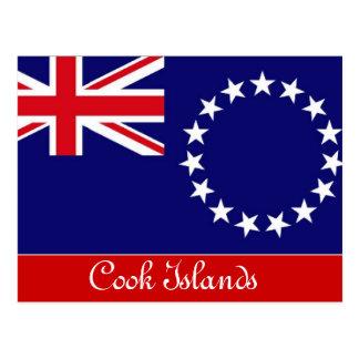 Postal de las islas de cocinero