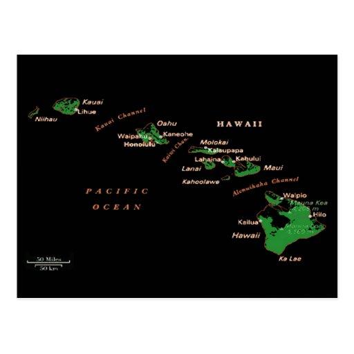 Postal de las islas hawaianas