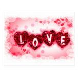 Postal de las letras de amor