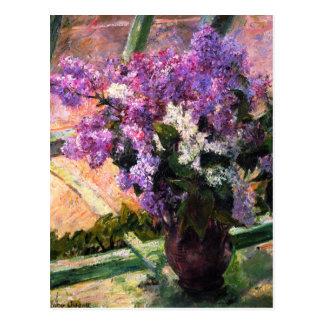 Postal de las lilas de Mary Cassatt