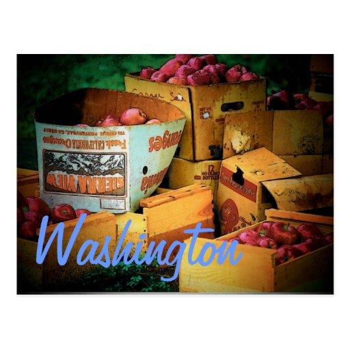 Postal de las manzanas de Washington
