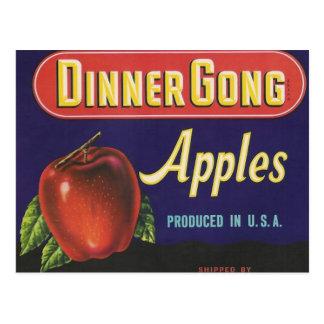 postal de las manzanas del gongo de la cena