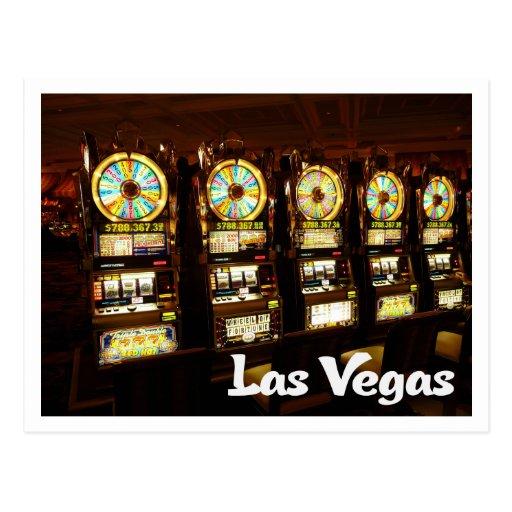 Postal de las máquinas tragaperras del casino de
