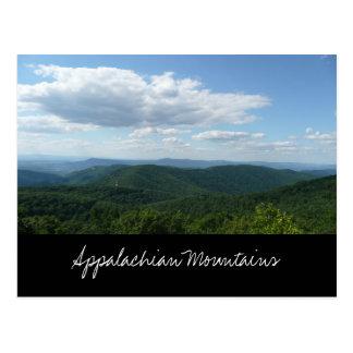 Postal de las montañas apalaches
