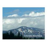 Postal de las montañas de Colorado