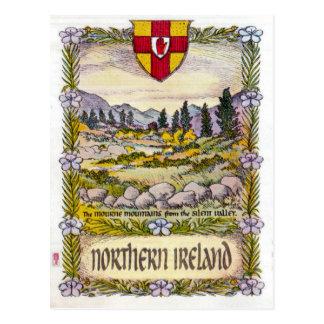 Postal de las montañas de Irlanda del Norte Mourne
