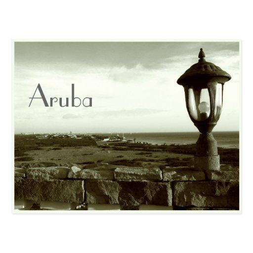 Postal de las noches de Aruba