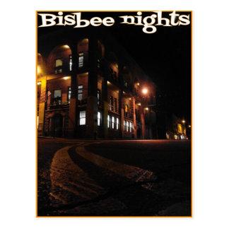 Postal de las noches de Bisbee