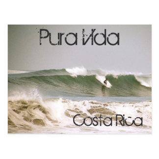 Postal de las personas que practica surf de Costa