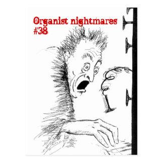 Postal de las pesadillas no.38 del organista