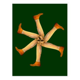 Postal de las piernas de madera