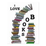 Postal de las pilas de libro