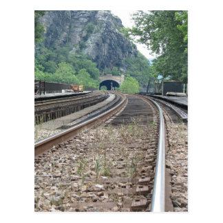 Postal de las pistas de ferrocarril del