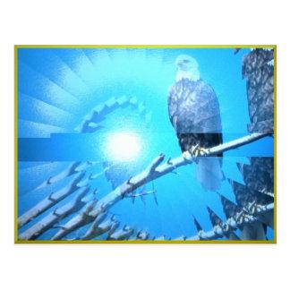 Postal de las plumas de Eagle