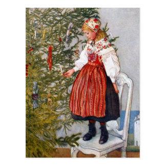 Postal de las postales del árbol de navidad de Car