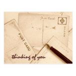 Postal de las postales del vintage