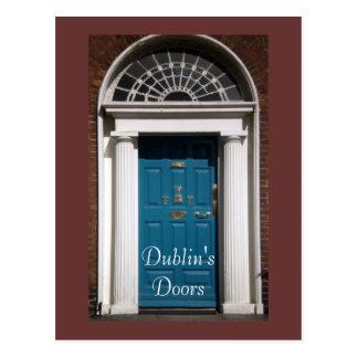 Postal de las puertas de Dublín