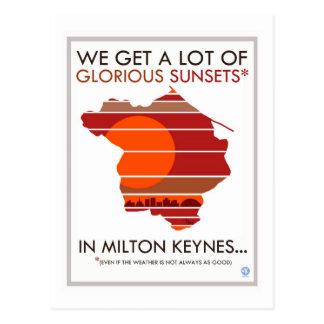 Postal de las puestas del sol gloriosas de Milton