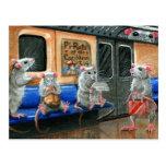 Postal de las ratas del subterráneo