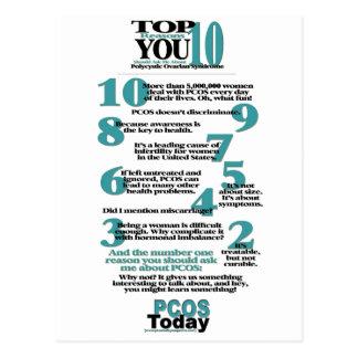 Postal de las razones del top 10 PCOS