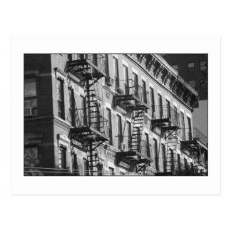 Postal de las salidas de incendios de NYC