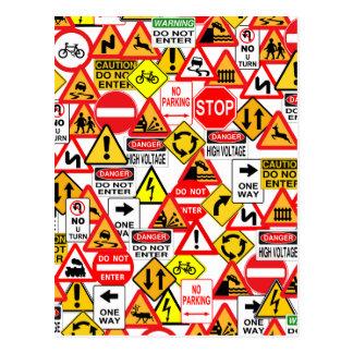 Postal de las señales de tráfico
