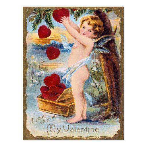 Postal de las tarjetas del día de San Valentín del