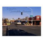 Postal de las tiendas de Mainstreet de Scottsdale