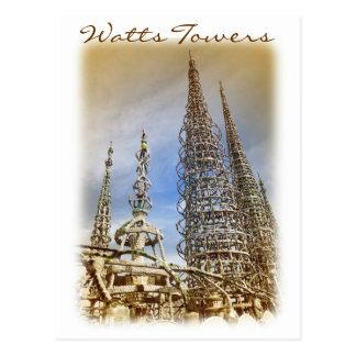 ¡Postal de las torres de los vatios del estilo del Tarjetas Postales