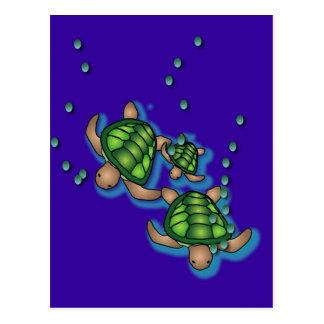 Postal de las tortugas de mar profundo