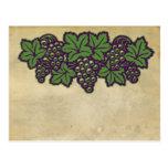 Postal de las uvas
