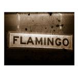 Postal de Las Vegas de la calle del flamenco