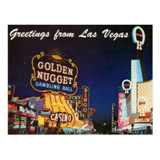 Postal de Las Vegas del a finales de la década de