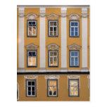 Postal de las ventanas de Linz