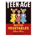 """Postal de las """"verduras occidentales adolescentes"""""""