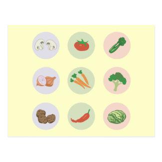 Postal de las verduras