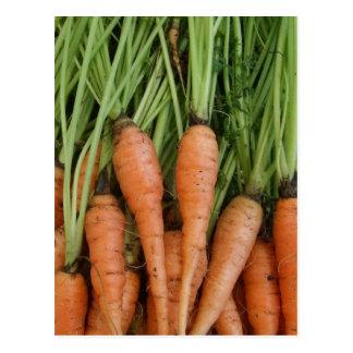 Postal de las zanahorias