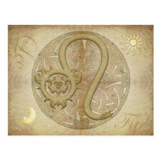 Postal de Leo de la muestra del zodiaco