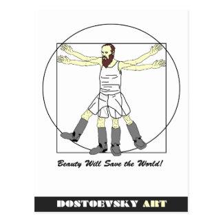 Postal de Leonardo del arte de Dostoevsky